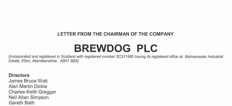 BrewDog Letter