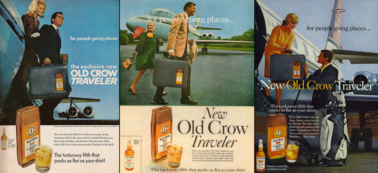 Old Crow Traveler Adverts