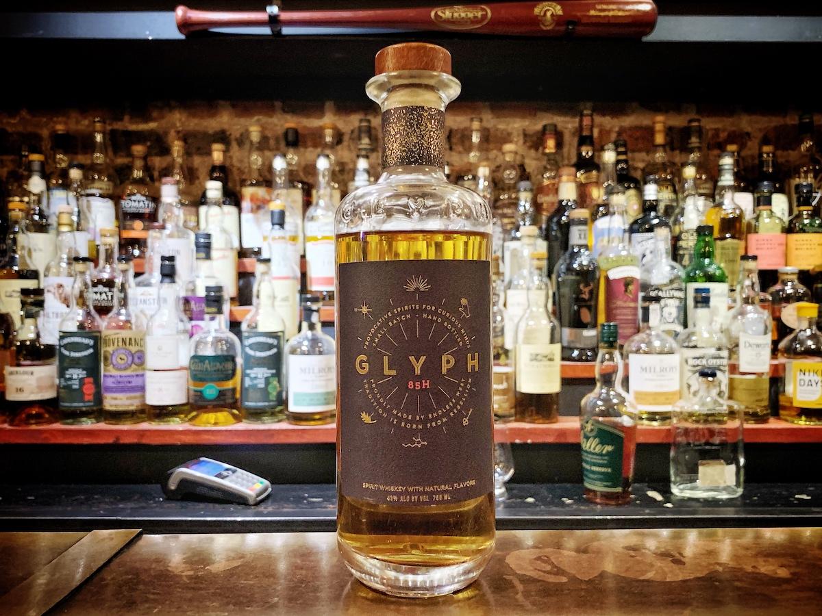 Glyph whiskey on a bar